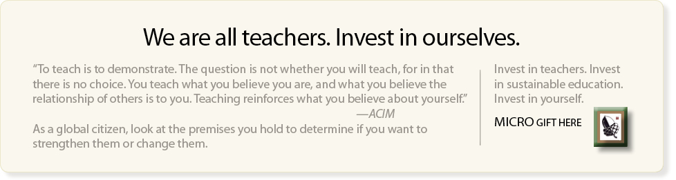 we are all teachers invest in ourselves